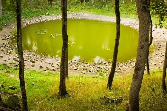 Kaali Meteorite Crater on the island of Saaremaa.