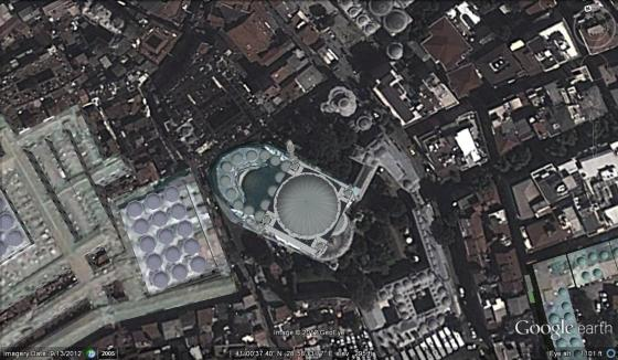 Viewed from above, Istanbul is filled with circles - the minarets and domes of the mosques.