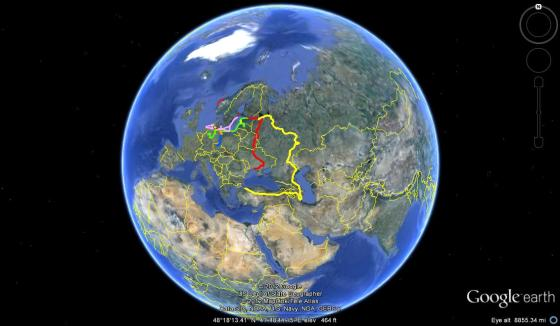"Mina's journey begins in Istanbul, at 41 degrees 00'28.85"" N, 28 degrees 58'26.06"" E."