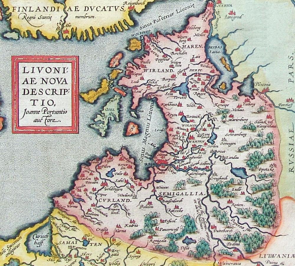 Terra Mariana ou Confédération de livonie Livland_15jh