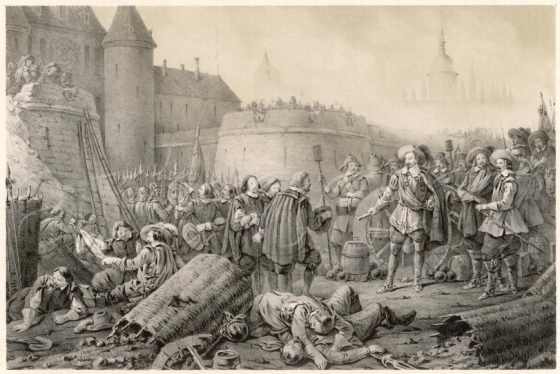 Wallenstein Besieges Stralsund, by CA Dahlstrom