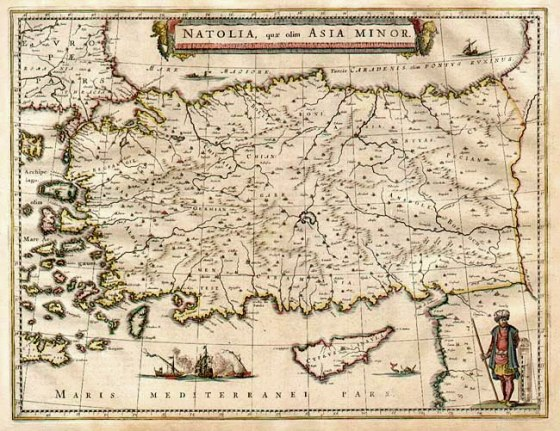 The Atlas Maior or Great Atlas was produced by Joan Blaeu (1596-1673) between 1660 and 1663. It was with no doubt one of the most expensive cartographical productions of the 17th century. It contained 600 maps and 3000 pages with text in Latin. Later editions appeared also with French or German text.